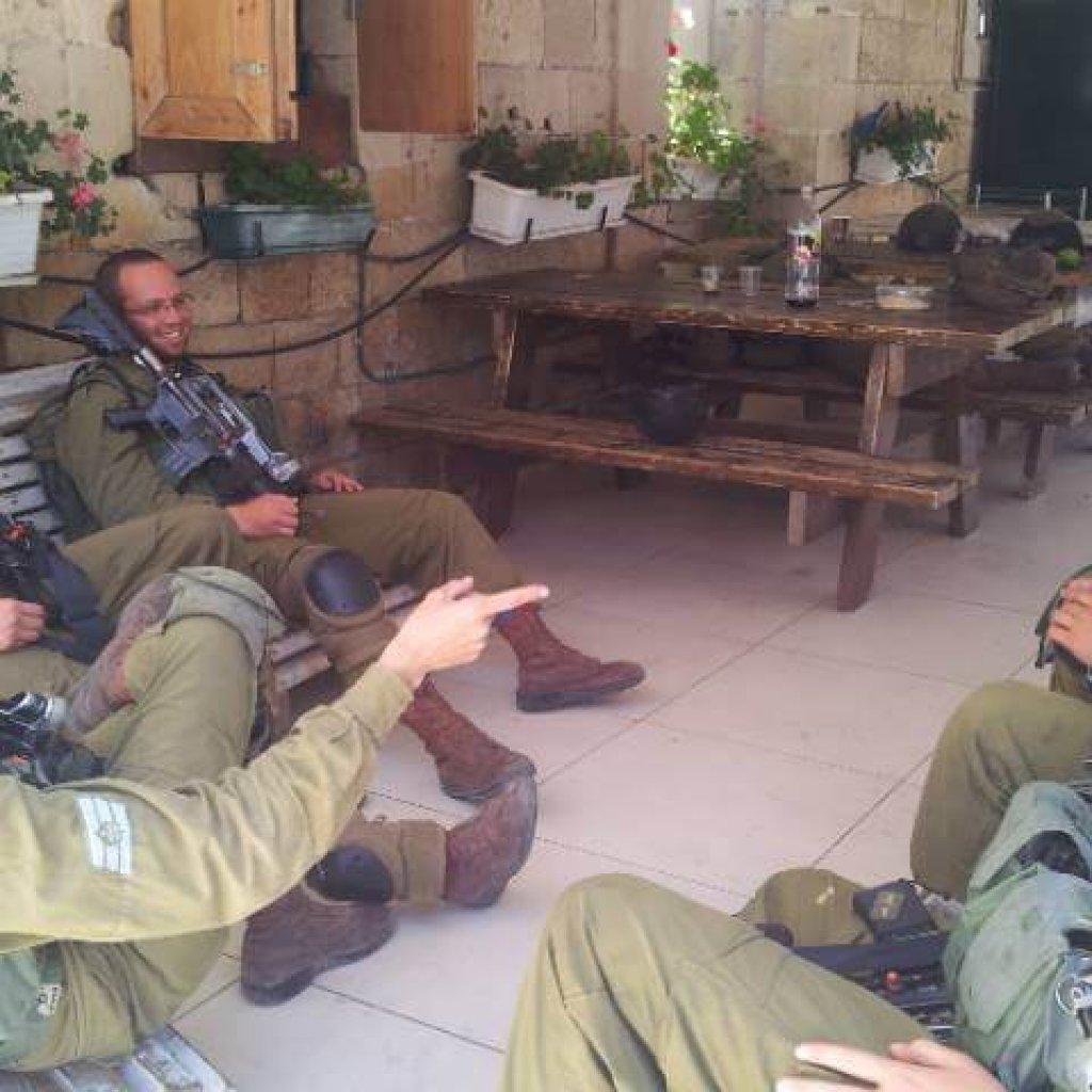 Soldier Rest Area in Hebron