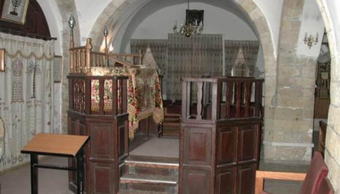 Inside Avraham Avinu Synagogue
