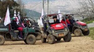 Jeeping activity on a Bat Mitzvah tour