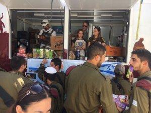 Celebrating bat mitzvah in Hebron with soldiers